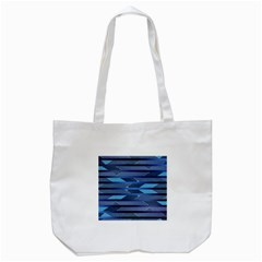 Abric Texture Alternate Direction Tote Bag (white) by Jojostore
