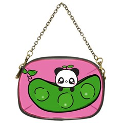 Edamame Panda Pink Cute Animals Chain Purses (one Side)  by Jojostore