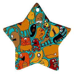 Creature Cluster Star Ornament (two Sides)  by Jojostore