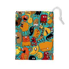 Creature Cluster Drawstring Pouches (large)  by Jojostore