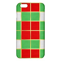 Christmas Fabric Textile Red Green Iphone 6 Plus/6s Plus Tpu Case