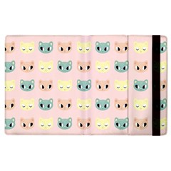 Face Cute Cat Apple Ipad 2 Flip Case