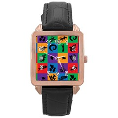 Elife Rose Gold Leather Watch