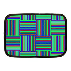 Fabric Pattern Design Cloth Stripe Netbook Case (medium)
