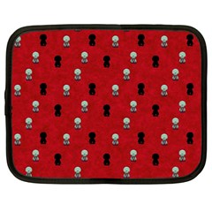 Cute Zombie Pattern Netbook Case (large)