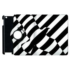 Flaying Bird Black White Apple Ipad 3/4 Flip 360 Case by Jojostore