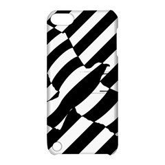 Flaying Bird Black White Apple Ipod Touch 5 Hardshell Case With Stand