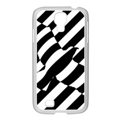 Flaying Bird Black White Samsung Galaxy S4 I9500/ I9505 Case (white)