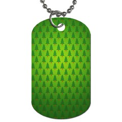 Fire Kindle Wallpaper Christmas Trees Dog Tag (two Sides)