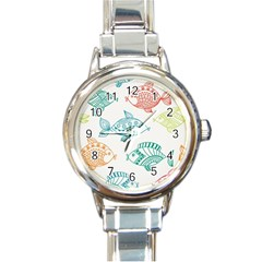 Fish Round Italian Charm Watch by Jojostore