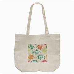 Fish Tote Bag (cream) by Jojostore