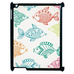 Fish Apple Ipad 2 Case (black)