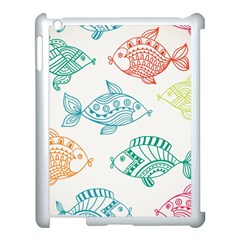 Fish Apple Ipad 3/4 Case (white) by Jojostore
