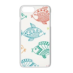 Fish Apple Iphone 7 Plus White Seamless Case by Jojostore