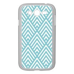 Geometric Blue Samsung Galaxy Grand Duos I9082 Case (white)