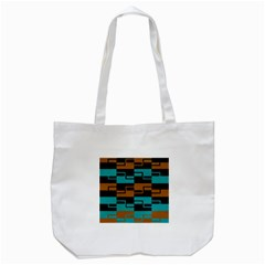 Fabric Textile Texture Gold Aqua Tote Bag (white) by Jojostore
