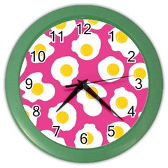 Fried Egg Color Wall Clocks by Jojostore