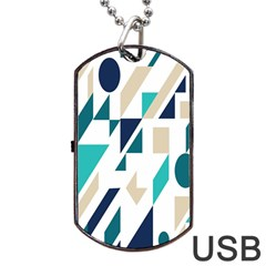 Geometric Dog Tag Usb Flash (two Sides)  by Jojostore