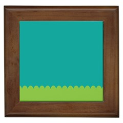 Green Blue Framed Tiles