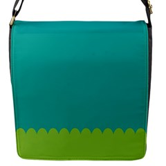 Green Blue Flap Messenger Bag (s)