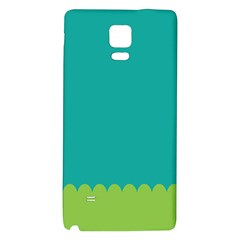 Green Blue Galaxy Note 4 Back Case