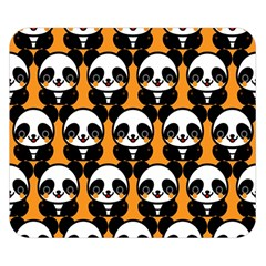 Halloween Night Cute Panda Orange Double Sided Flano Blanket (small)  by Jojostore