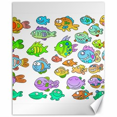 Fishes Col Fishing Fish Canvas 16  X 20   by Jojostore