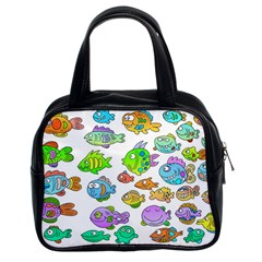Fishes Col Fishing Fish Classic Handbags (2 Sides)