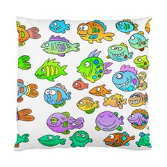 Fishes Col Fishing Fish Standard Cushion Case (two Sides) by Jojostore