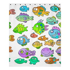 Fishes Col Fishing Fish Shower Curtain 60  X 72  (medium)  by Jojostore