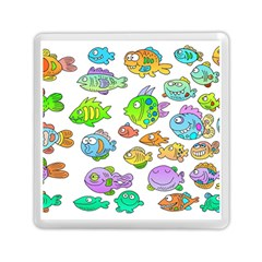 Fishes Col Fishing Fish Memory Card Reader (square)  by Jojostore