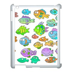 Fishes Col Fishing Fish Apple Ipad 3/4 Case (white) by Jojostore