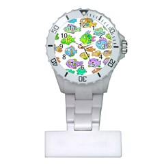 Fishes Col Fishing Fish Plastic Nurses Watch by Jojostore
