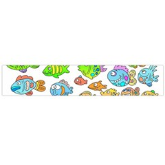 Fishes Col Fishing Fish Flano Scarf (large)