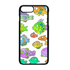 Fishes Col Fishing Fish Apple Iphone 7 Plus Seamless Case (black) by Jojostore
