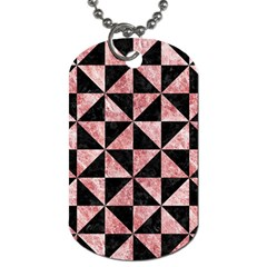 Triangle1 Black Marble & Red & White Marble Dog Tag (one Side)