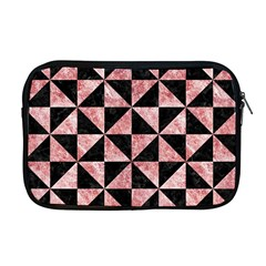 Triangle1 Black Marble & Red & White Marble Apple Macbook Pro 17  Zipper Case