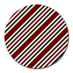 Line Christmas Stripes Round Mousepads by Jojostore