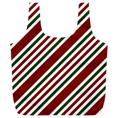 Line Christmas Stripes Full Print Recycle Bags (l)