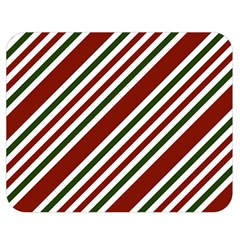 Line Christmas Stripes Double Sided Flano Blanket (medium)  by Jojostore