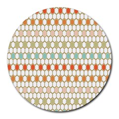 Lab Pattern Hexagon Multicolor Round Mousepads by Jojostore