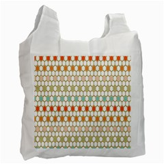 Lab Pattern Hexagon Multicolor Recycle Bag (two Side)  by Jojostore