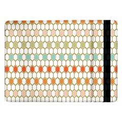 Lab Pattern Hexagon Multicolor Samsung Galaxy Tab Pro 12 2  Flip Case by Jojostore
