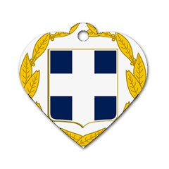 Coat Of Arms Of Greece Military Variant Dog Tag Heart (two Sides) by abbeyz71