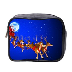 Holidays Christmas Deer Santa Claus Horns Mini Toiletries Bag 2 Side