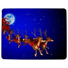 Holidays Christmas Deer Santa Claus Horns Jigsaw Puzzle Photo Stand (rectangular) by Jojostore