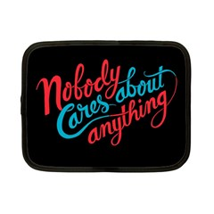 Madmen Nobody Cares Netbook Case (small)  by Jojostore
