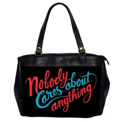 Madmen Nobody Cares Office Handbags (2 Sides)  by Jojostore