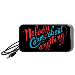 Madmen Nobody Cares Portable Speaker (black)  by Jojostore