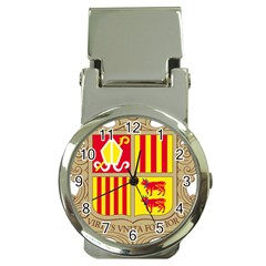 Coat Of Arms Of Andorra Money Clip Watches by abbeyz71